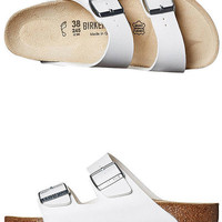BIRKENSTOCK WOMENS ARIZONA SANDAL - WHITE