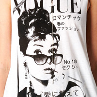 VOGUE AUDREY HEPBURN TANK - WHITE | PUBLIK | Women's Clothing & Accessories