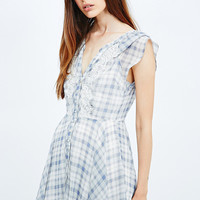 Kimchi Blue Dylan Shirt Dress in Light Blue - Urban Outfitters