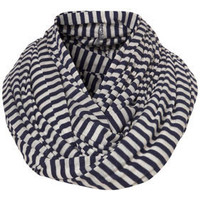 Navy Blue Stripe Snood - Scarves - Accessories - Topshop