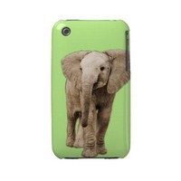 Cute Baby Elephant Iphone 3 Case-mate Cases from Zazzle.com