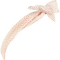 Cream Mini Dot Print Wire Headband - Hair Accessories - Accessories - Topshop
