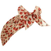 Cream Ladybird Print Bow Headband - New In - Topshop
