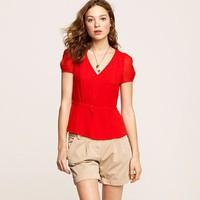 Red V-Neck Shirt