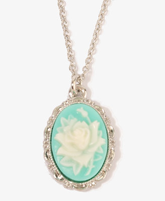 Carved Rose Necklace | FOREVER21 - 1011409378