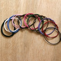 Suede Cord Bracelets (set of 5) (12 colors to choose)