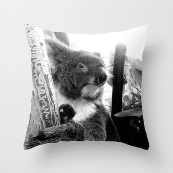 Koala Throw Pillow by Alan Hogan | Society6