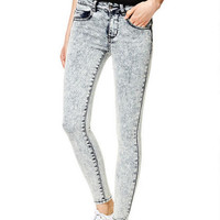 Liv High-Rise Jeggings in Light Acid