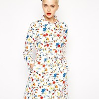 Love Moschino Floral Trench Coat