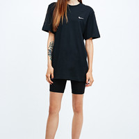 Nike Embroidered Swoosh Tee in Black - Urban Outfitters