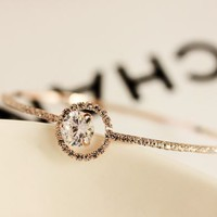 Circle Of Shines Rhinestone Bangle