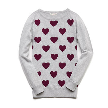 Heart Patterned Sweater (Kids)