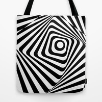 Zebra Op Tote Bag by Ashley
