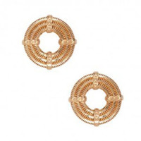 LARA BOHINC APOLLO STUD EARRINGS - ROSE GOLD