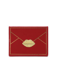 LULU GUINNESS PATENT ENVELOPE CARD HOLDER - RED