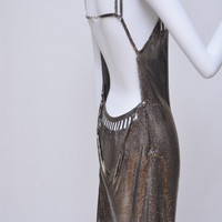 Paco Rabanne Pewter/Silver Color Finish Chain Mail Dress