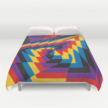 Kill That Noise Duvet Cover by Ashley