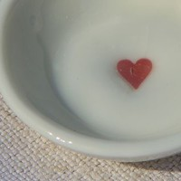 Round Red Heart Dish