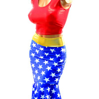 Wonder Woman Inspired Pinup Wiggle Skirt Set