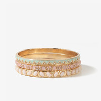 Lacquered Zigzag Bangle Set | FOREVER21 - 1012190755