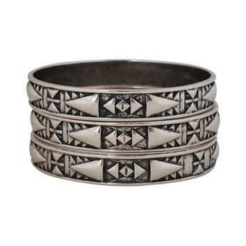 Tribal Pattern Bangle Set | FOREVER21 - 1000048473
