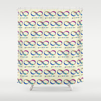 You & Me Infinity Shower Curtain by gretzky | Society6