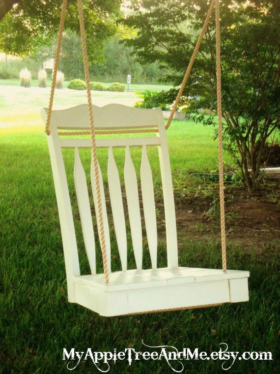 Repurposed Dining Room Chair Tree Swing by MyAppleTreeAndMe