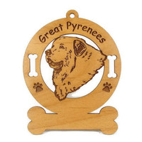 3301 Great Pyrenees Head Personalized Dog by gclasergraphics