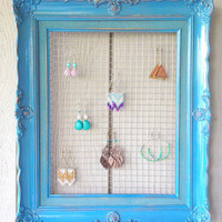 Turquoise Frame Earring Display by OliveTreeHandmade on Etsy