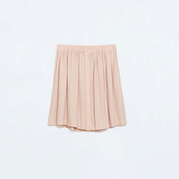 CREPE SKIRT WITH FRONT BUTTONS