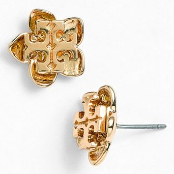 Tory Burch 'Cecily' Flower Logo Stud Earrings