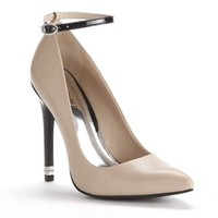 Jennifer Lopez Ankle Strap High Heels - Women