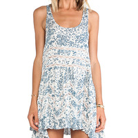 Free People Floral Trapeze Slip in Slate