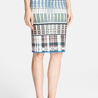 Clover Canyon 'Donegal' Print Pencil Skirt