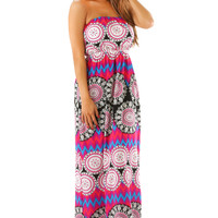 Nothing Without Love Maxi Dress: Multi