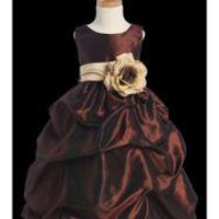 Taffeta Ripple Dress with Color Sash ( Many Options ) Several Size Ranges - Prices & Buy at ShopSimple.com