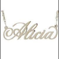 Sterling Silver Filigree Name Necklaces