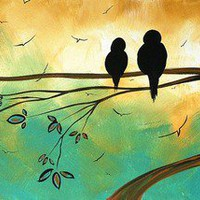 Love birds Fine art Print by MADART Art Prints by Megan Duncanson - Shop Canvas and Framed Wall Art Prints at Imagekind.com
