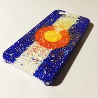 Hand Painted Splatter Colorado Flag iPhone 5/5s Case