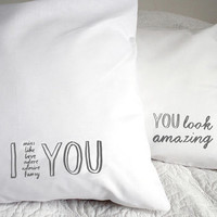 'I Adore You' Pillowcase