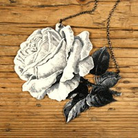 A Rose is a Rose Necklace by mamaslittlebabies on Etsy