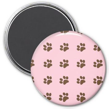 Brown Puppy Paws Refrigerator Magnet