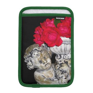 Roses Cherub Statue iPad Mini Sleeve Vertical