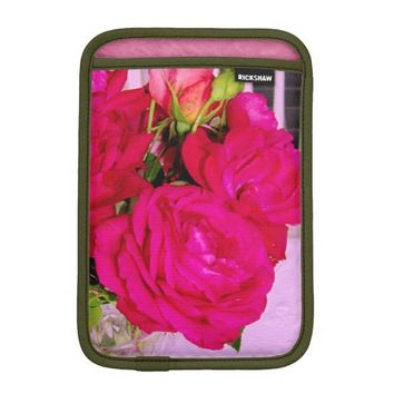 Make Mine Pink Roses 2-iPad Mini Sleeve Vertical