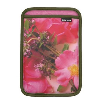 Roses in Thyme iPad Mini Sleeve Vertical