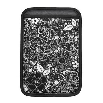 Botanical Beauties Black iPad Mini Sleeve Vertical