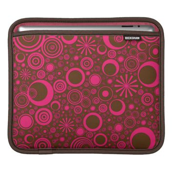 Rounds, Pink-Brown iPad Sleeve Horizontal