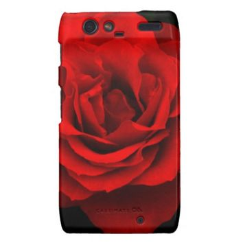 Fire Red Rose Motorola Droid Razr Case