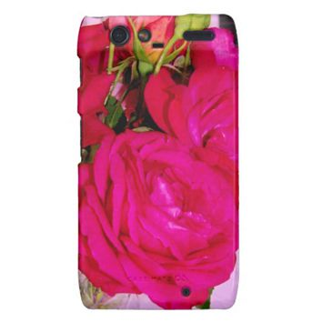 Make Mine Pink Roses 2 Motorola Droid Razr Case