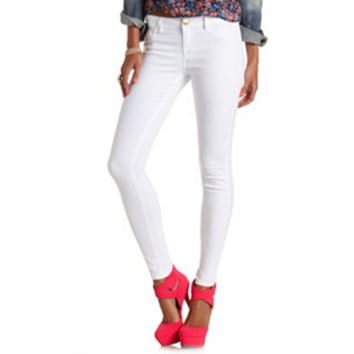 "REFUGE ""SKIN TIGHT LEGGING"" WHITE SKINNY JEANS"